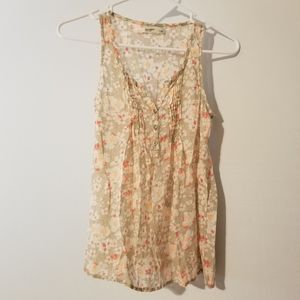 3/20$ Old Navy floral tank top size extra small